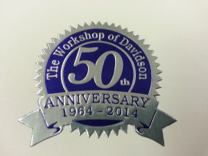 50th anniversary sticker